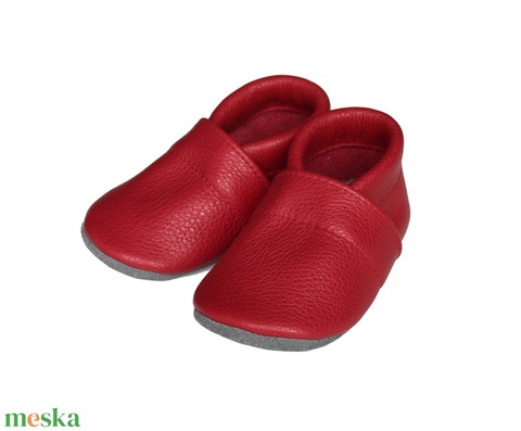 Hopphopp puhatalpú cipő - Piros - Meska.hu