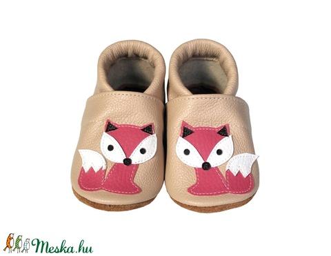 Hopphopp puhatalpú cipő - Rókás/Púderrózsaszín (Hopphopp) - Meska.hu