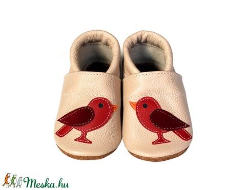 Hopphopp puhatalpú cipő - Madárkás/Púderrózsaszín (Hopphopp) - Meska.hu