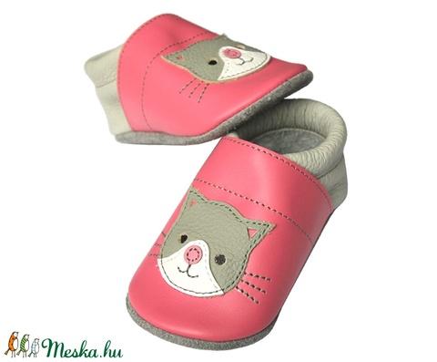 Hopphopp puhatalpú cipő - Cicás/Rózsaszín (Hopphopp) - Meska.hu