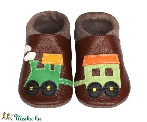 Hopphopp puhatalpú cipő - Vonatos/barna (Hopphopp) - Meska.hu