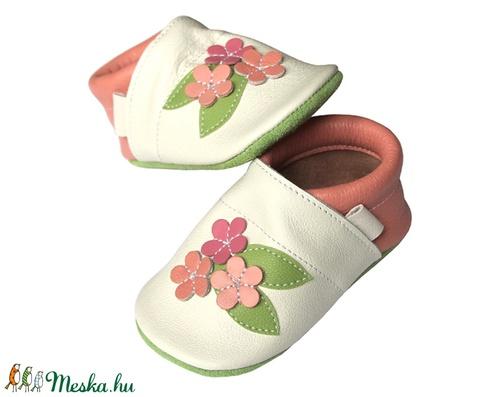 Új!!! Hopphopp puhatalpú cipő - Virágos/pasztell (Hopphopp) - Meska.hu