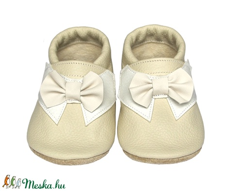Új!!! Hopphopp puhatalpú cipő - Csokornyakkendős/Alkalmi-bézs (Hopphopp) - Meska.hu