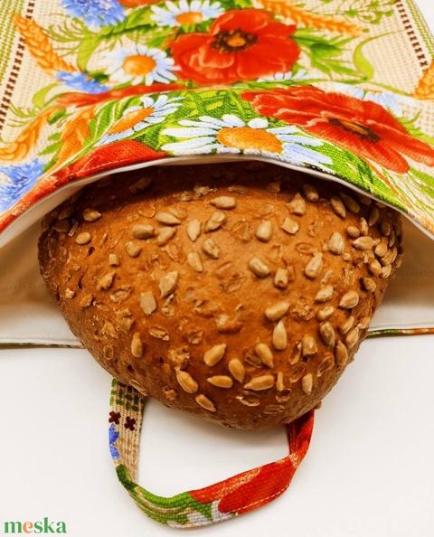Frissentartó kenyeres zsák - pipacsos - Meska.hu