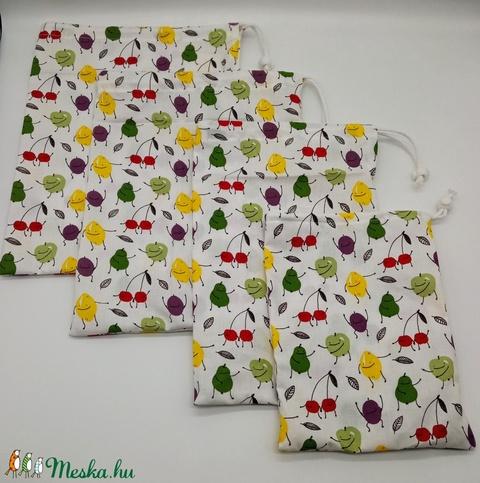 Vászon, textil zsák szett - zöldség, gyümölcs, tészta tárolására - Meska.hu