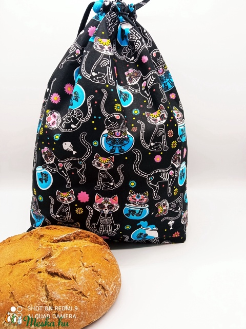 Frissentartó kenyeres zsák - nagy méret - Meska.hu