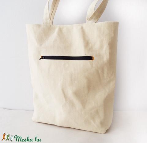 Bézs táska szivárvány szivekkel (imolafashion) - Meska.hu