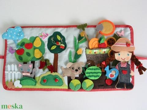 Vivi csodás veteményeskertje-Interaktív játszókönyv sok-sok pakolászható gyümölccsel és zöldséggel (AZONNAL VIHETŐ!!!) (Jam81) - Meska.hu