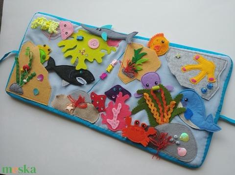 A tenger állatai- interaktív játszókönyv 10db állatkával - RENDELHETŐ!! (Jam81) - Meska.hu