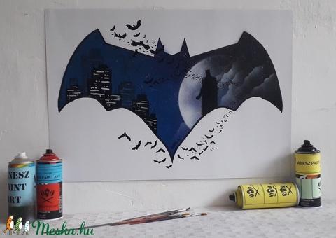 Batman festmény - festékszóróval készült - Meska.hu