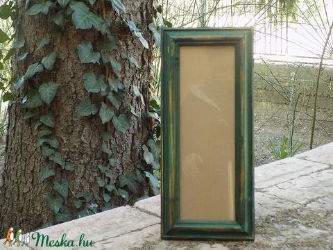 Képkeret-Fotókeret-10x29,7 cm-es képhez-Pácolt Zöld Habos-153 (jani100) - Meska.hu