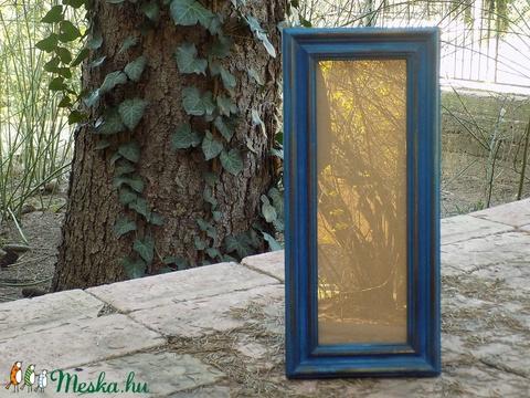 Képkeret-Fotókeret-10x29,7 cm-es képhez-Pácolt Kék-Ricás-150 (jani100) - Meska.hu