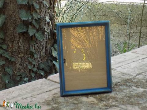 Képkeret-Fotókeret-21x14,7 cm-es (A/5-ös) képhez-Pácolt Kék-Vékony-61  (jani100) - Meska.hu