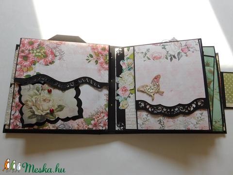 Flowers - egyedi, kézműves esküvői vagy évfordulós scrapbook album, emlékkönyv, fotóalbum, virágos (Jbgifts) - Meska.hu