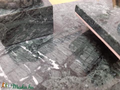 Márvány íróasztali készlet - Verde Guatemala - 35 x 20 cm  (JEmi) - Meska.hu