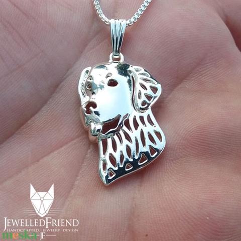 Golden retriever ezüst medál díszdobozban (jewelledfriend) - Meska.hu