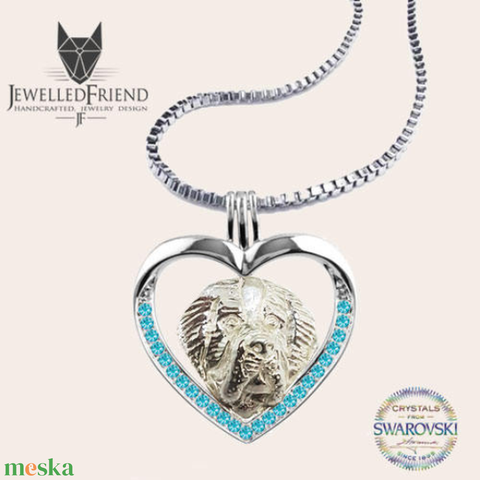 Bernáthegyi ezüst medál Swarovski kővel díszítve nyaklánccal díszdobozban  (jewelledfriend) - Meska.hu