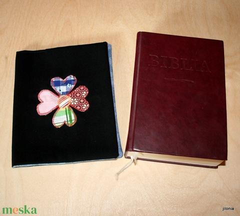 Biblia borító fekete - Meska.hu