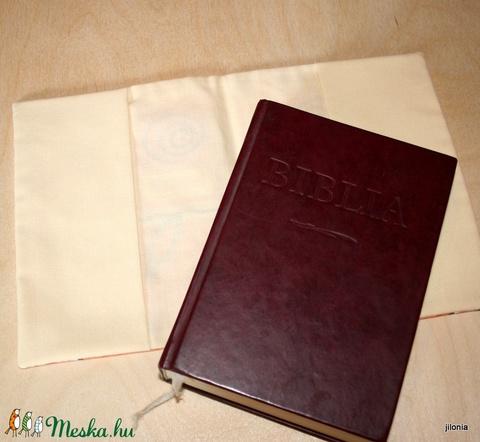 Biblia borító narancs tulipános - Meska.hu