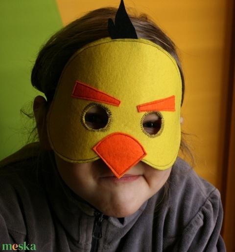 sárga angry birds álarc filcből - Meska.hu