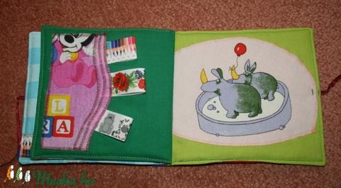 puha könyv ,    textil könyv ,  a babakönyv, a baba első könyve  - Meska.hu