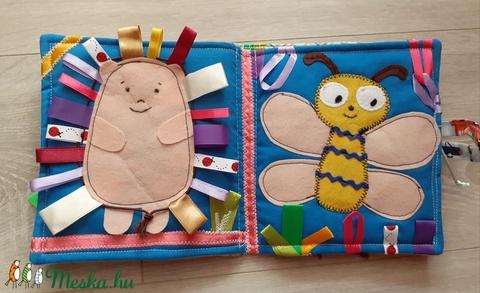 Madárkás, állatos puha könyv     textil könyv      babakönyv           a baba első könyve  - Meska.hu