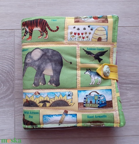 állatos puha könyv     textil könyv    Okoskönyv Csendeskönyv  - Meska.hu