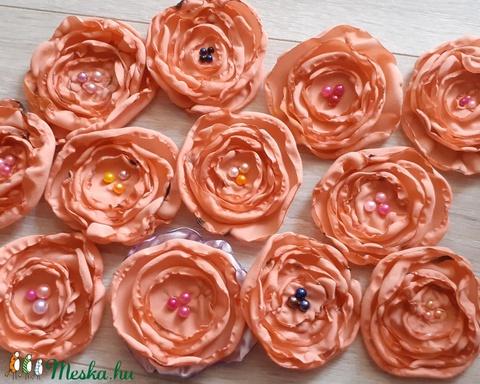12 db textil virág  - Meska.hu