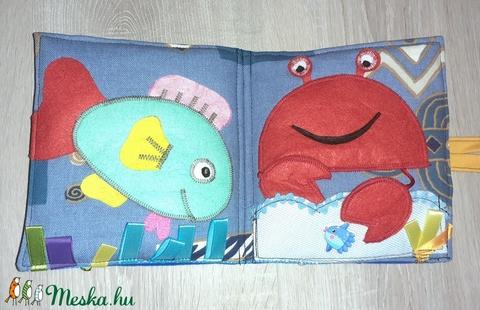 Bálnás textil képeskönyv okoskönyv - Meska.hu