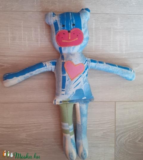 Kék rózsaszín mackó  - Meska.hu