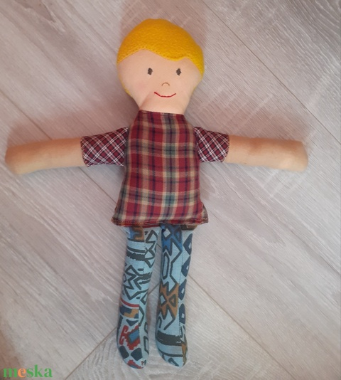 Szőke fiú baba textilbaba rongybaba - Meska.hu