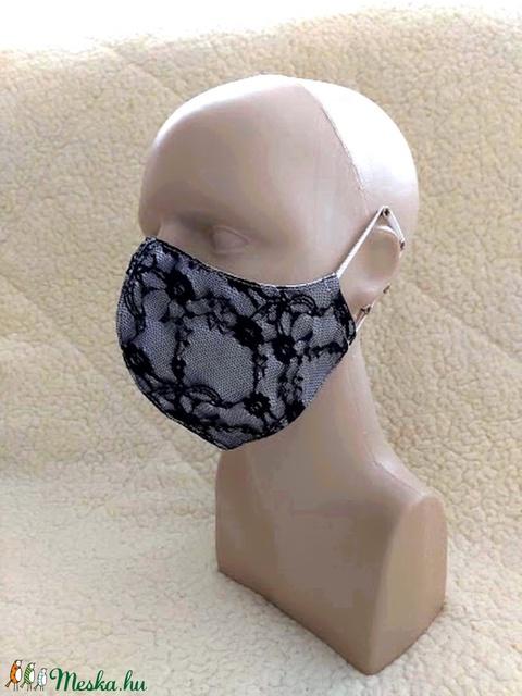 Csipke  Textil mosható szájmaszk, arc maszk ( felnőtt ) - Meska.hu