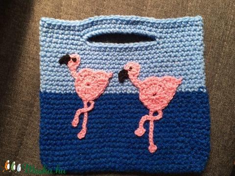 Flamingós  horgolt táska/ ajándéktáska (Judit920) - Meska.hu