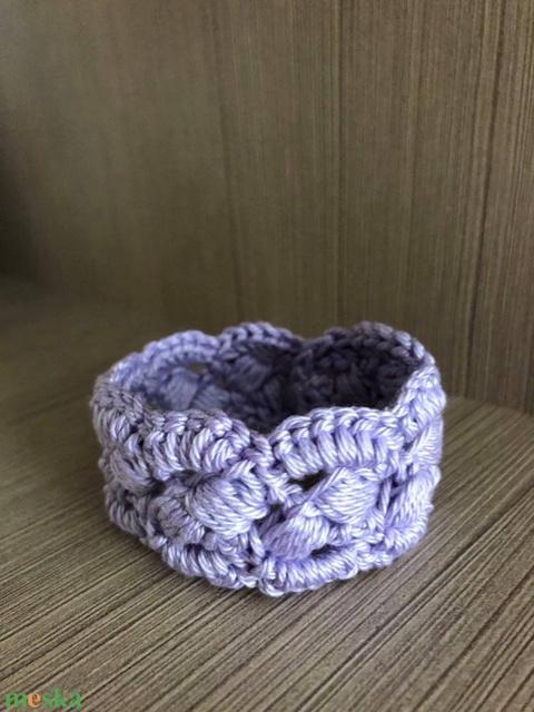Horgolt karkötő ' Simple Lavender' - Meska.hu