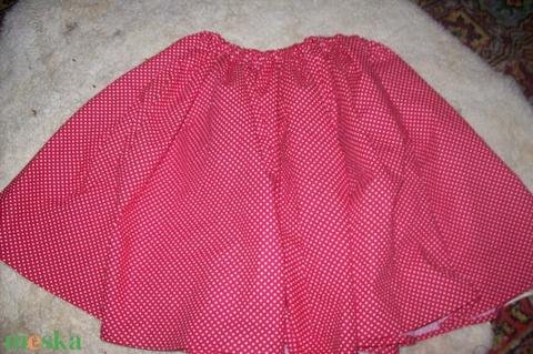 Piros pöttyös szoknya - ruha & divat - babaruha & gyerekruha - szoknya - Meska.hu