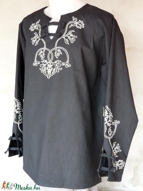 Ing etelközi ornamentikával, fekete szín S-4XL - Meska.hu