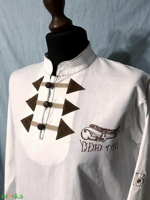 Szkíta szarvas ing, fehér pamutvászon, S-4XL - Meska.hu