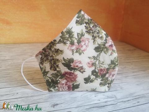 Finom rózsa virágos arcmaszk, maszk  - Meska.hu