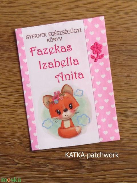 Gyermek egészségügyi könyv borító - Meska.hu