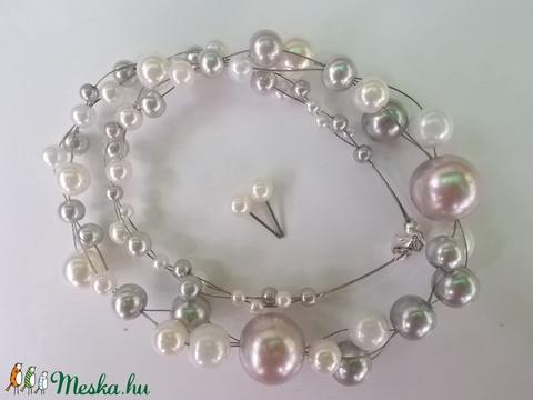 Amarilla Ezüst gyöngyös nyaklánc (Kcsi) - Meska.hu