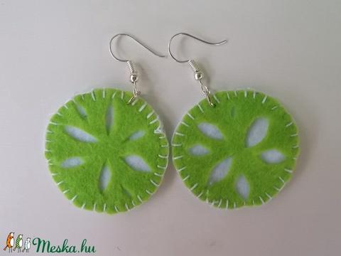 Zöld citrom filc fülbevaló (Kcsi) - Meska.hu