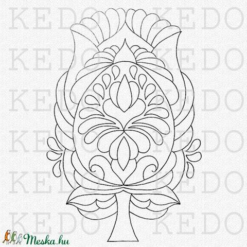 Húsvéti tojás-tulipánok- nyomtatható tulipános sablon füzet (kedo) - Meska.hu