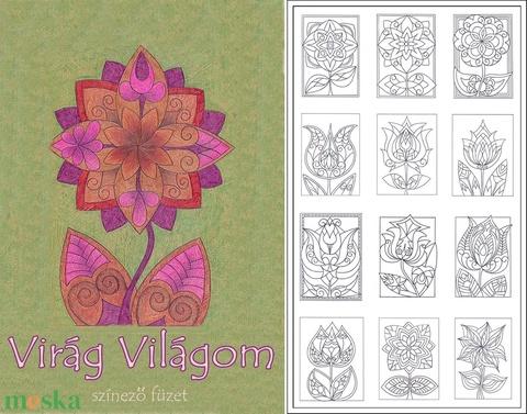 Virág-világom I/1.- nyomtatható virágos sablon füzet - Meska.hu