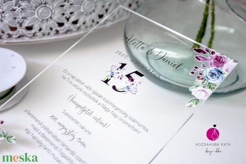 Plexi esküvői meghívó • akril esküvői meghívó (kejti) - Meska.hu