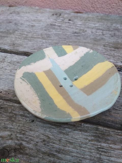 Kerámia szappantartó színes agyagból, nerikomi szappantartó (KeraMici) - Meska.hu