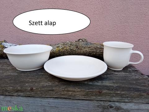 Kiskutyás-kiscicás gyerek étkészlet, 3 darabos szett - Meska.hu