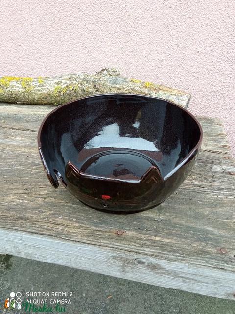 Fonaltartó fekete cica XL méretben - Meska.hu