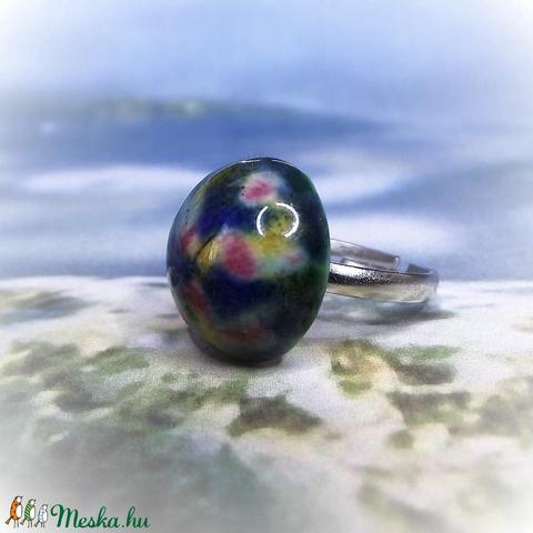 Színkavalkád - kerámia gyűrű (keramika) - Meska.hu