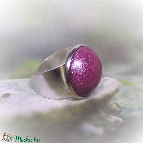 UNIKORNIS lila kerámia gyűrű - Ajándék lányoknak nőknek névnapra születésnapra (keramika) - Meska.hu