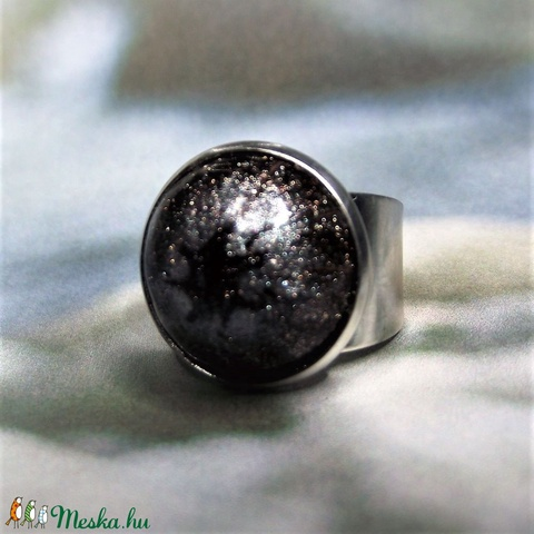UNIKORNIS csillogó aranybarna kerámia gyűrű - Ajándék lányoknak nőknek névnapra születésnapra - Meska.hu